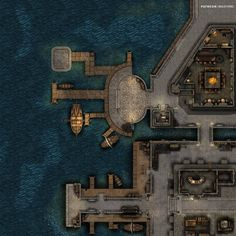 Fantasy Battle, Fantasy City, Fantasy Map, Dungeon Tiles, Dungeon Maps, Dungeons And Dragons Pdf, Dnd World Map, Pathfinder Maps, Area Map