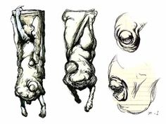 Masahiro Ito (concept artist for a lot of the early Silent Hill games) has some of the most unsettling creature designs. I don't know how blobby or abstract we may want to go with the Choir, but if you need inspiration for that kind of thing, I'd definitely recommend looking more into his works.