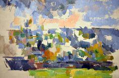 Cezanne, watercolor, the Garden at Les Lauves