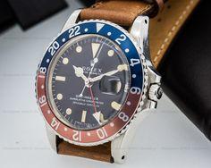 "European Watch Company: Rolex Vintage GMT Master Blue / Red ""Pepsi Bezel"""