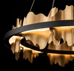 Wow. The Hildene Circular LED Pendant from @hubbardtonforge is both magnificent and dramatic. #hubbardtonforge #designdriven #luxurydesign #lighting #design #luxury #lightinginspo #lightinggoals #blackandgold #pendants Hills And Valleys, Dark Smoke, Chandelier Lamp, Chandeliers, Decorative Accessories, Modern Contemporary, Bronze, Gold, Image 360