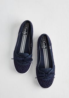 Takes One to Row One Flat in Navy. A day on the water wouldnt be the same without these navy flats by Keds! #blue #modcloth