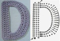 De verdad crochet: PATRON DE ABECEDARIO DE CROCHET