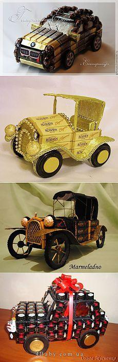авто из конфет - подарок мужчине на 23 февраля