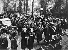 November 9-10, 1938, Jewish men under arrest paraded through the streets of Oldenburg, Germany, during Kristallnacht