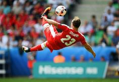 More Than Precision... Xherdan Shaqiri Bicycle Kick Goal against Poland in Uefa Euro 2016  XS10 (Switzerland) ❤ #UefaEuro2016 #XS #xherdan #shaqiri #Switzerland