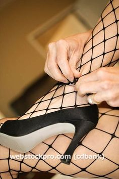 fishnet stockings from the 60's