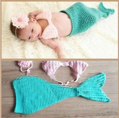 Cute Baby Girl Toddler Infant Mermaid Costume Set Photo Photography Prop L40 | eBay