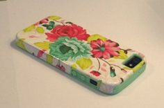 Amazon.com: DandyCase 2in1 Hybrid High Impact Hard Pink Floral Pattern + Mint Green Silicone Case Cover For Apple iPhone 5S & iPhone 5 (not 5C) + DandyCase Screen Cleaner: Cell Phones & Accessories