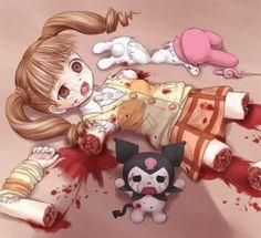 horror anime girl
