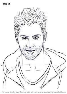 Pencil Drawing Tutorials Learn How to Draw Varun Dhawan (Celebrities) Step by Step : Drawing Tutorials Easy Portrait Drawing, Pencil Sketch Portrait, Portrait Sketches, Vector Portrait, Art Tutorials, Drawing Tutorials, Drawing Ideas, Drawing Tips, Diwali Drawing