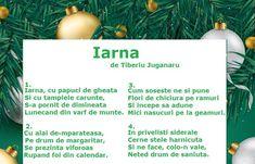 Poezie - Iarna de Tiberiu Juganaru Anul Nou, English, Songs, School, Children, Om, Young Children, Boys, Kids