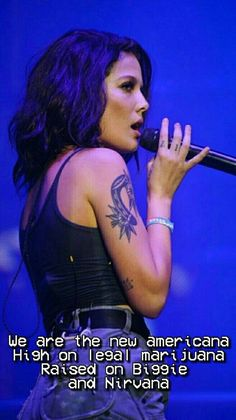 3db122907 pinterest - nicodiangelos // new americana - halsey Celebrities With Tattoos,  Halsey Singer,