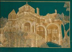 Galveston Moody Mansion  Handmade with rice leaves Original by museumshop, $69.00. Handmade with rice leaves.