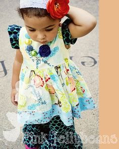 Hollis dress in whimsical wishes by XOPinkBoutique on Etsy