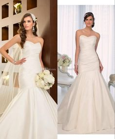 Wholesale High Low Wedding Dress - Buy Wholesale - New Style 2014 Simple Mermaid Wedding Dresses Sweetheart Ruched Taffeta Lace-Up Wedding Bridal Gown Custom, $114.72 | DHgate.com