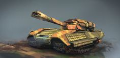 Tank by George Batchvarov on ArtStation. Tank Drawing, Arsenal, Military Vehicles, Game Art, Monster Trucks, Surface, War, Change, Adventure