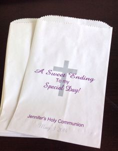 Holy Communion Candy Buffet Bags  Baptism by SweetLoveCandy, $15.50