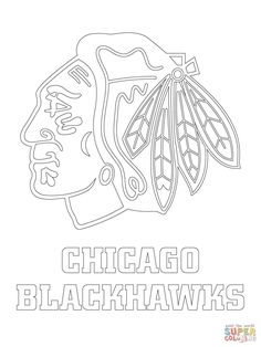 chicago blackhawks coloring page. get the other hockey teams ... - Chicago Blackhawks Coloring Pages