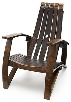 Old wine barrel chair...to sip your wine in...A great chair!