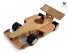 F1 Ferrari Mini - giocattolo di legno naturale