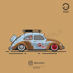 KombiT1: Beetle Low Rat Rothfink Flat Design