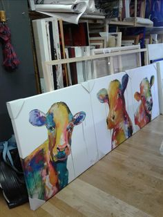 """Cows With Attitude"" Limited edition series on white background."