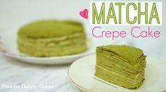 [Lady M] Matcha Mille Crepes Cake⎜抹茶千層蛋糕 (可麗餅蛋糕) - Peachy Bunny Bakes