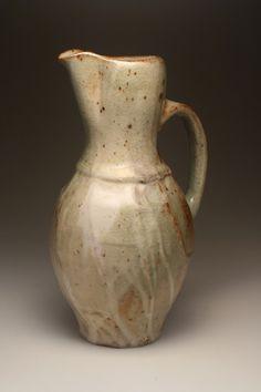 joelwillson:  Pitcher. Stoneware with Shino Glaze,...
