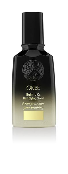 Oribe Balm d'Or Heat Styling Shield: Shield your hair from thermal damage. This superlight styler seals in sleekness and radiant shine while you blow-dry, straighten or curl. #goldlust #oribehair