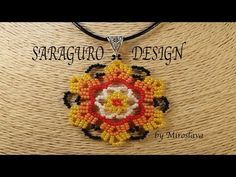 Beautiful SARAGURO Design for Pendants and Earrings!!! Beading by Miroslava - YouTube