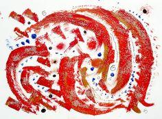Energy 5 original painting on paper by Barbara by allthingsbarbara, $22.00
