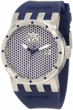 Invicta Women's 10422 DNA Mesh Silver Sandblast and Blue Dial Blue Silicone Watch Invicta. $127.27. Water-resistant to 100 M (330 feet). Mineral crystal; brushed stainless steel case; blue silicone strap. Date function at 3:00. Japanese quartz movement. Mesh silver sand-blast tone and blue dial with white and blue hands; stainless steel bezel with blue accents. Save 86%!