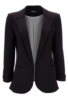 Love this blazer! Sleeve detail and rounded make it classy and eye catching. LB