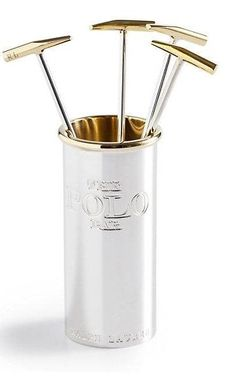 Ralph Lauren Kipton silver cocktail pick, £175 (set of six with holder)