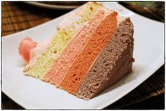 ginger in the basement.: Pink Ombre Cake.
