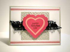 Valentine Card using CTMH Artiste Cricut cartridge