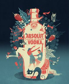 Absolut Vodka....Love the Illustration and the Colors...
