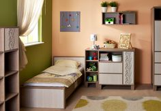 Holly bedroom for children / Holly gyerekszoba Cot, Cabinet, Bedroom, Table, Furniture, Children, Home Decor, Crib Bedding, Clothes Stand