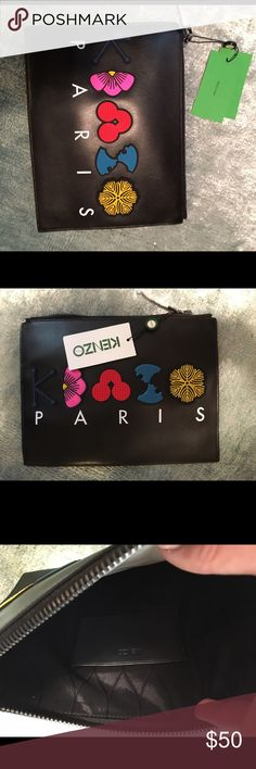 Kenzo clutch Black kenzo Paris clutch also could be used for a make up bag Kenzo Bags Clutches & Wristlets