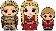 Game of Thrones: Lannister 3 Pack (Jaime, Cersei, and Tyrion) PDF Pattern by Shylah Addante