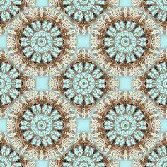 Gardenia Chocolate Coordinate fabric by joanmclemore on Spoonflower - custom fabric