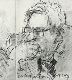 Bob Godfrey (drawn by Joanna Quinn) #animator #British #animation