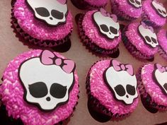 Monster High cupcake toppers completely by SugardollBakeShop, $24.95