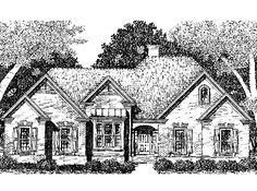 Floor Plans AFLFPW25165 - 1 Story New American Home with 3 Bedrooms, 2 Bathrooms and 2,123 total Square Feet