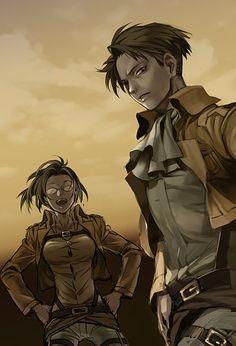 Levi & Hanji - SNK Attack On Titan