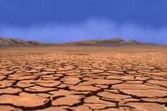 Desert cracked | Desert scene showing the earth dried and cracked.