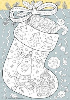 Christmas stocking doodle colouring page printables christmas printables before christmas printables before christmas printables free christmas printables Noel Christmas, Christmas Colors, Christmas Stockings, Christmas Mandala, Vintage Christmas, Doodle Coloring, Coloring Pages For Kids, Mandala Coloring, Christmas Coloring Sheets