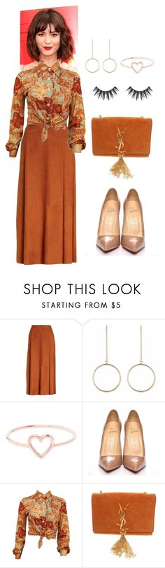 """""""good 4"""" by ichaermayani on Polyvore featuring Lafayette 148 New York, Love Is, Christian Louboutin, Yves Saint Laurent and polyvorefashion"""