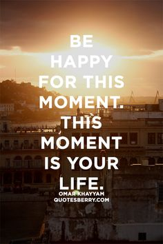 Quotes Berry : Tumblr Quotes Blog — Be happy for this moment. This moment is your...